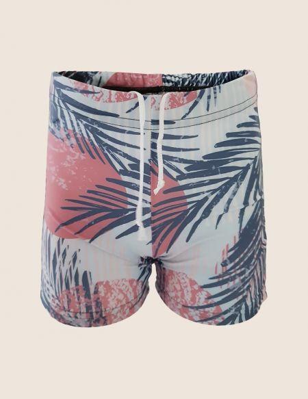Swim shorts palm trees, anti UV boy, UPF50 +, eco-friendly