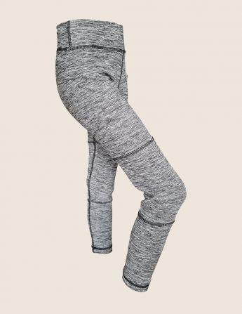 Legging de sport enfant anti UV gris, de profil