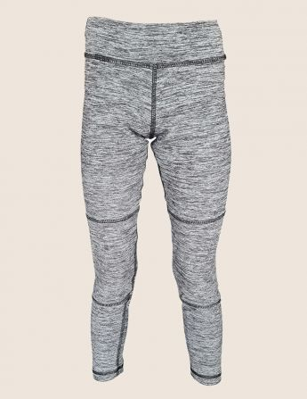 Legging de sport enfant anti UV gris, face