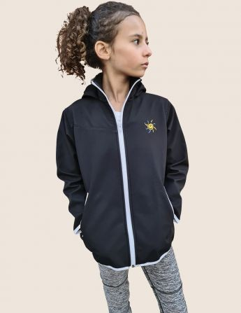 Veste de sport softshell enfant anti uv mixte, profil