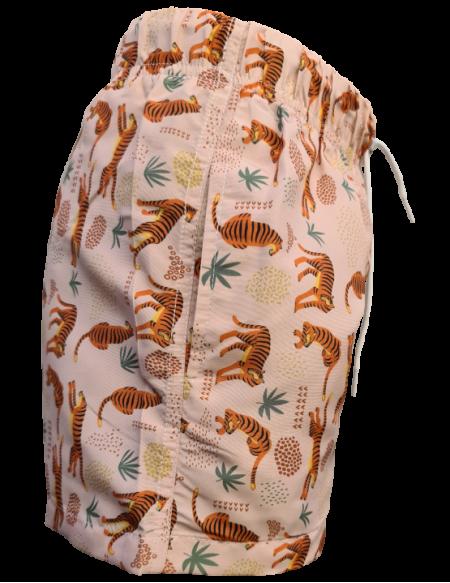 Short de bain tigre anti UV, de profil