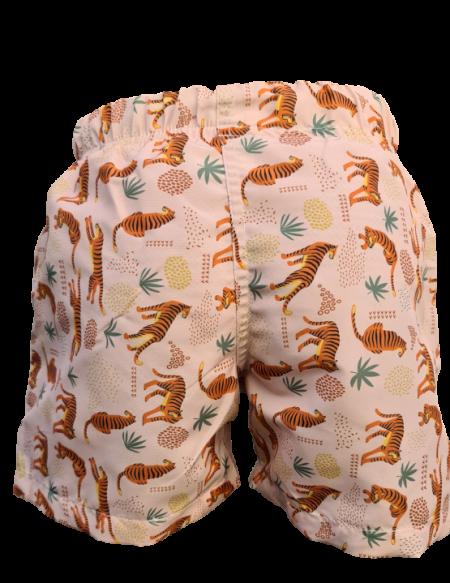 Short de bain tigre anti UV, de dos
