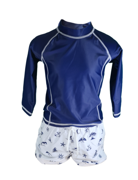 Boys' UV Protective Swimsuit UPF50+ Brittany Sailor (0 - 6 years)