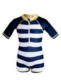 Combinaison maillot de bain manche longue, marinière, anti UV UPF50+